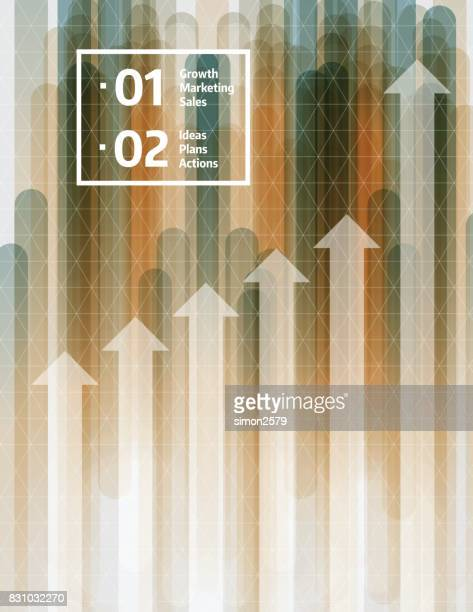 Business Graph Concept Background