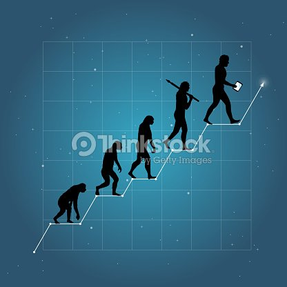 Business Growth Chart With Human Evolution Vector Art Thinkstock