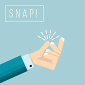 Businessman hand  with snapping finger gesture. Living easy business concept vector background. Gesture hand finger snap expression illustration
