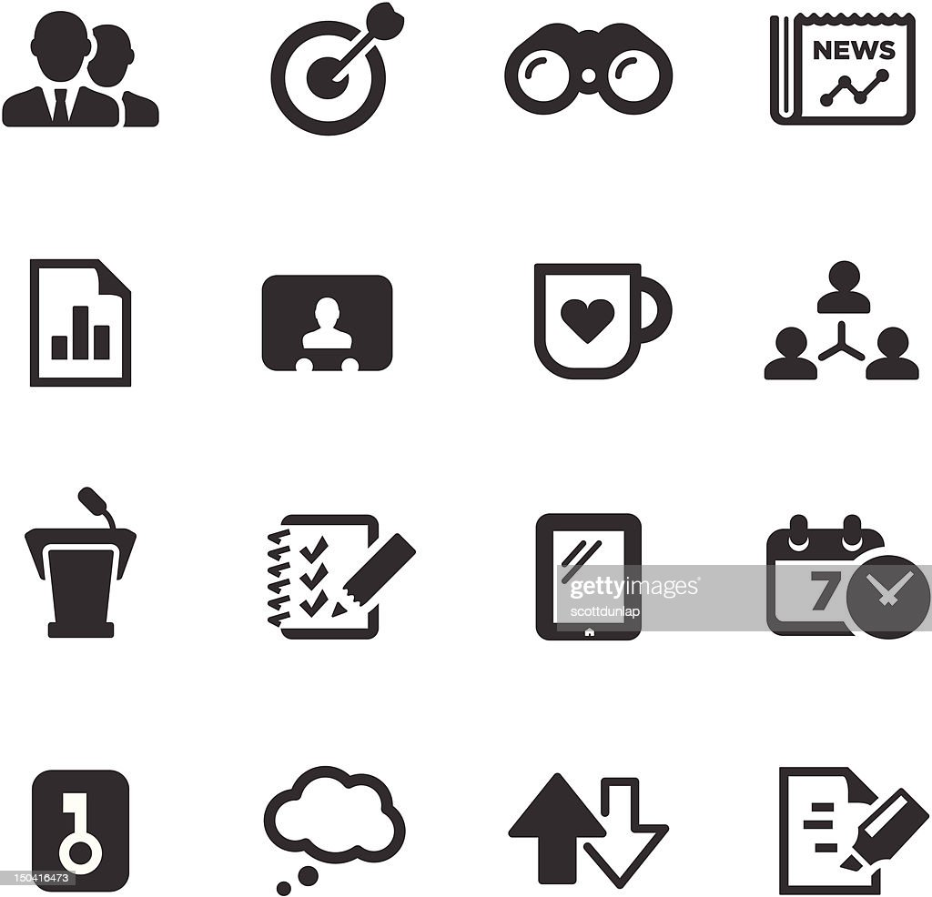 Business Icons | Mono Series : Vector Art