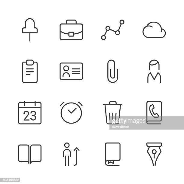 Business icons set 2   Black Line series