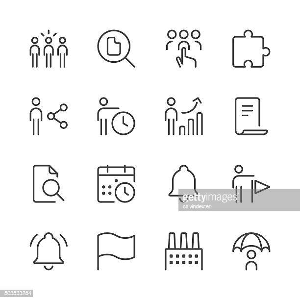 Business icons set 4 | Black Line series
