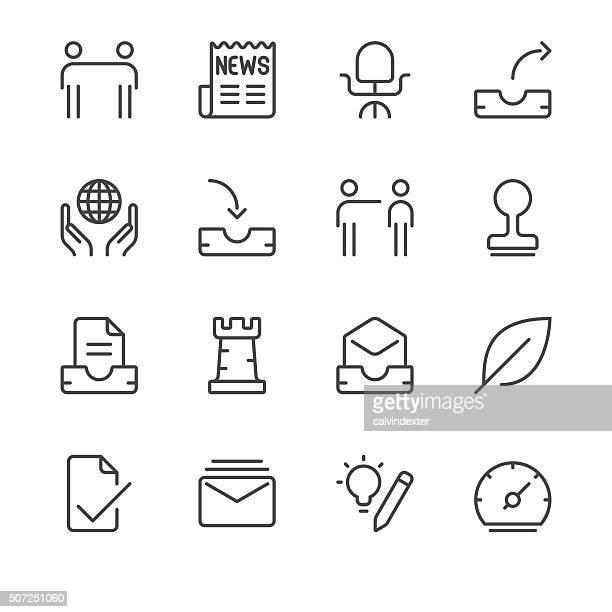 Business Icons set 5 | Black Line series