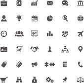 Set of 36 business icons. All objects separated in layers.