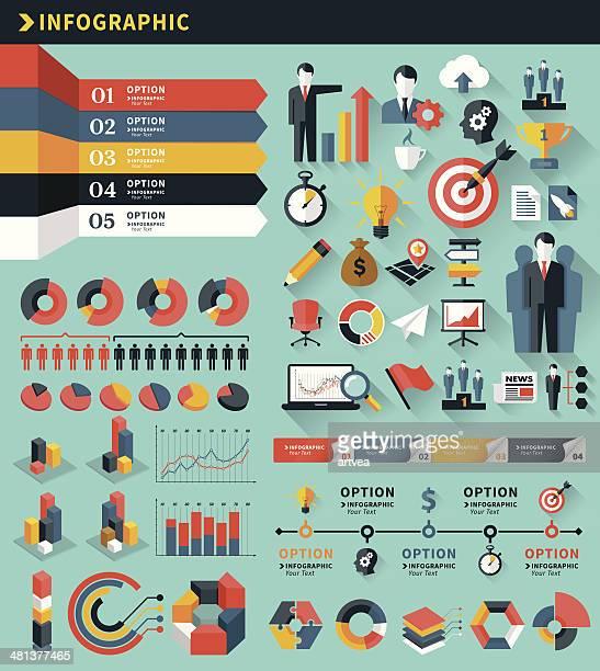 Business infografica elementi