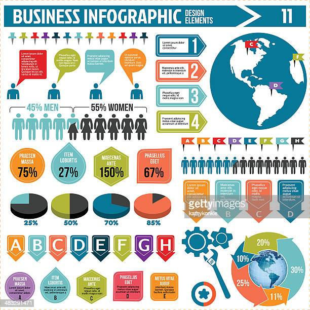 business infographics design elements