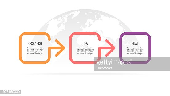 Business infographics. Timeline with 3 steps, options. Vector template. : stock vector