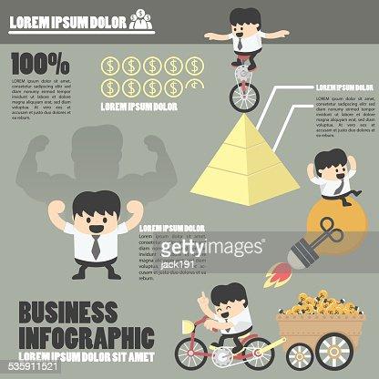 Infographics negócios, sucesso : Arte vetorial