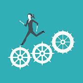 hardworking business leader vector illustration graphic design