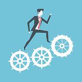 Business leader reaching success vector illustration graphic design vector illustration graphic design