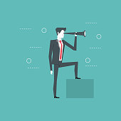 Business leader and visionary for new opportunities vector illustration graphic design