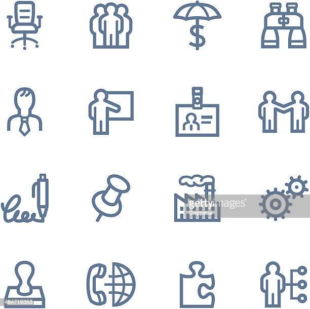 Business-Linie Symbole