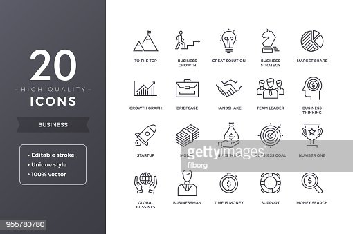 Business Line Icons : Vector Art