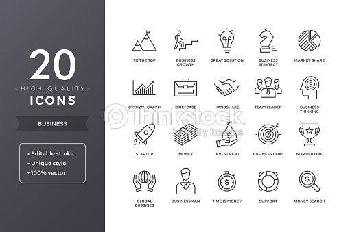 Business Line Icons : stock vector