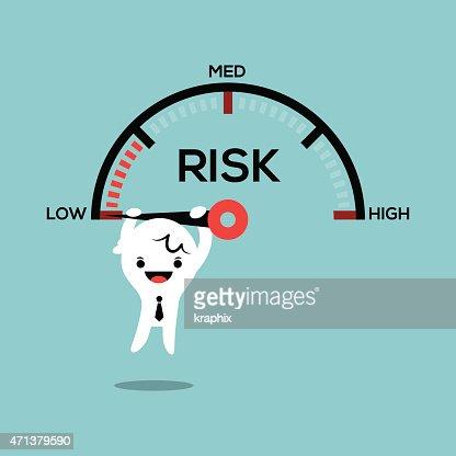 business man hanging on speed gauge risk management conceptual illustration : stock vector