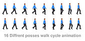 Business man walk cycle, Walk sequence, sprites, sprite, animation, looping, silhouette, spite sheet, sprite animation, sprites.