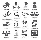 Business management icons on white. Pack 03.