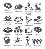 Business management icons on white. Pack 16.