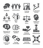 Business management icons Pack 34 on white background