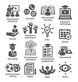 Business management icons Pack 35 Icons for business, education, career, strategy, training marketing