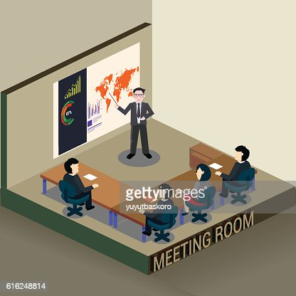 Reunião de negócios : Arte vetorial
