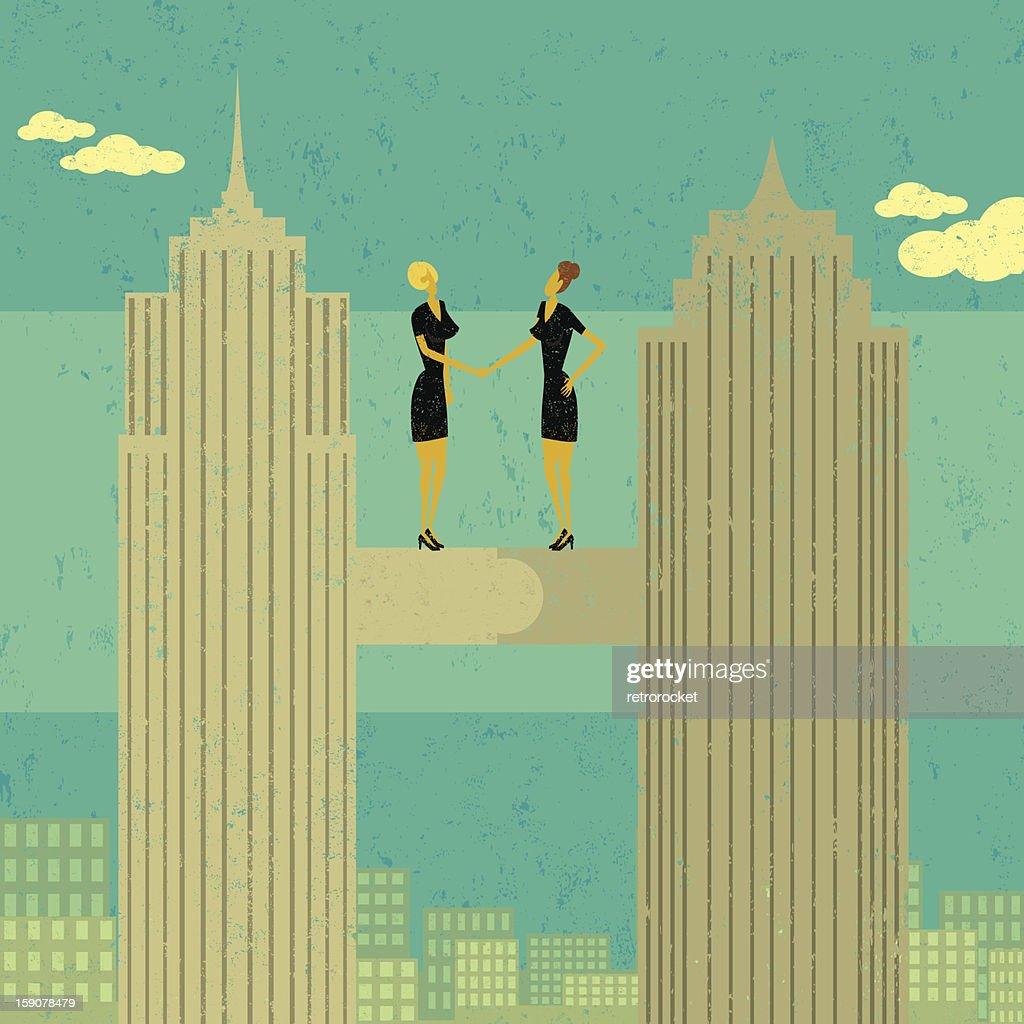 Business merger : Vector Art