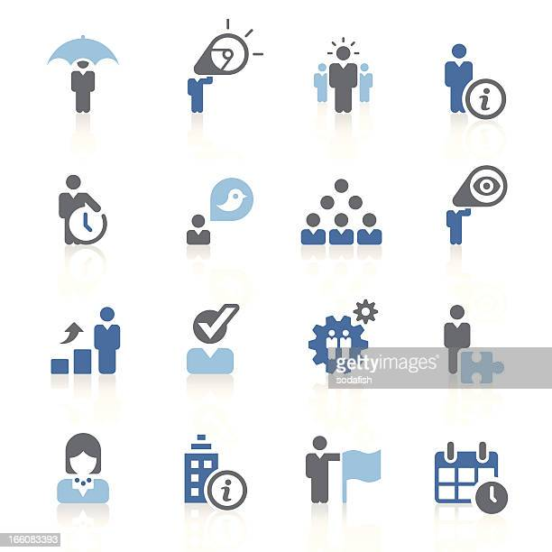 Business metaphor icons | azur series