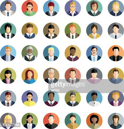 Business People. Icons set. : stock vector