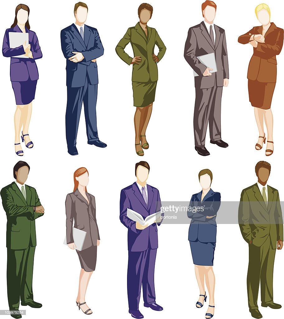 Business People Icons : Vector Art
