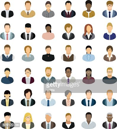 Business People Icons : stock vector