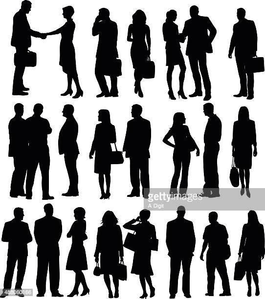 Collection de Silhouette de gens d'affaires