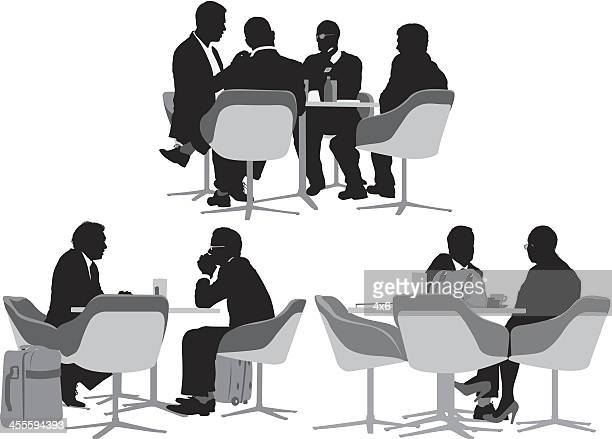 Business people sitting at restaurant