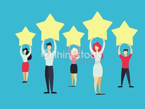 Business people standing. : stock vector