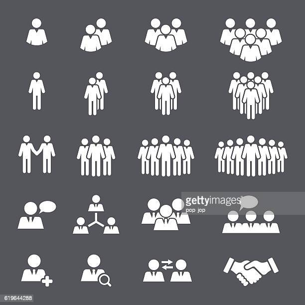 Business People Team Icon Set
