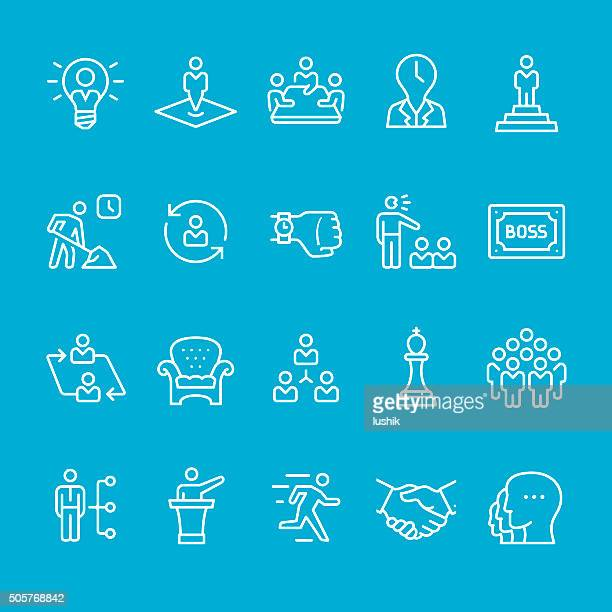 Business Person and Corporate Hierarchy icon