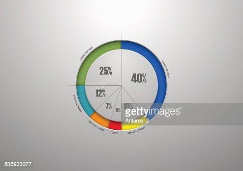 Business pie chart : Vector Art