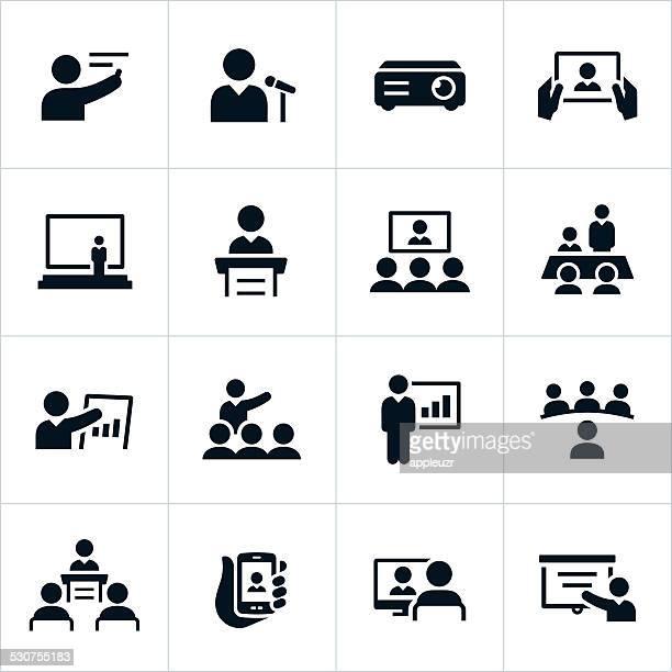 Presentazione icone di affari