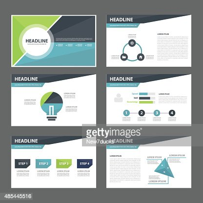 business presentation template flat design set vector art | thinkstock, Powerpoint templates