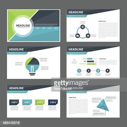 Business Presentation Template Flat Design Set Vector Art  Thinkstock