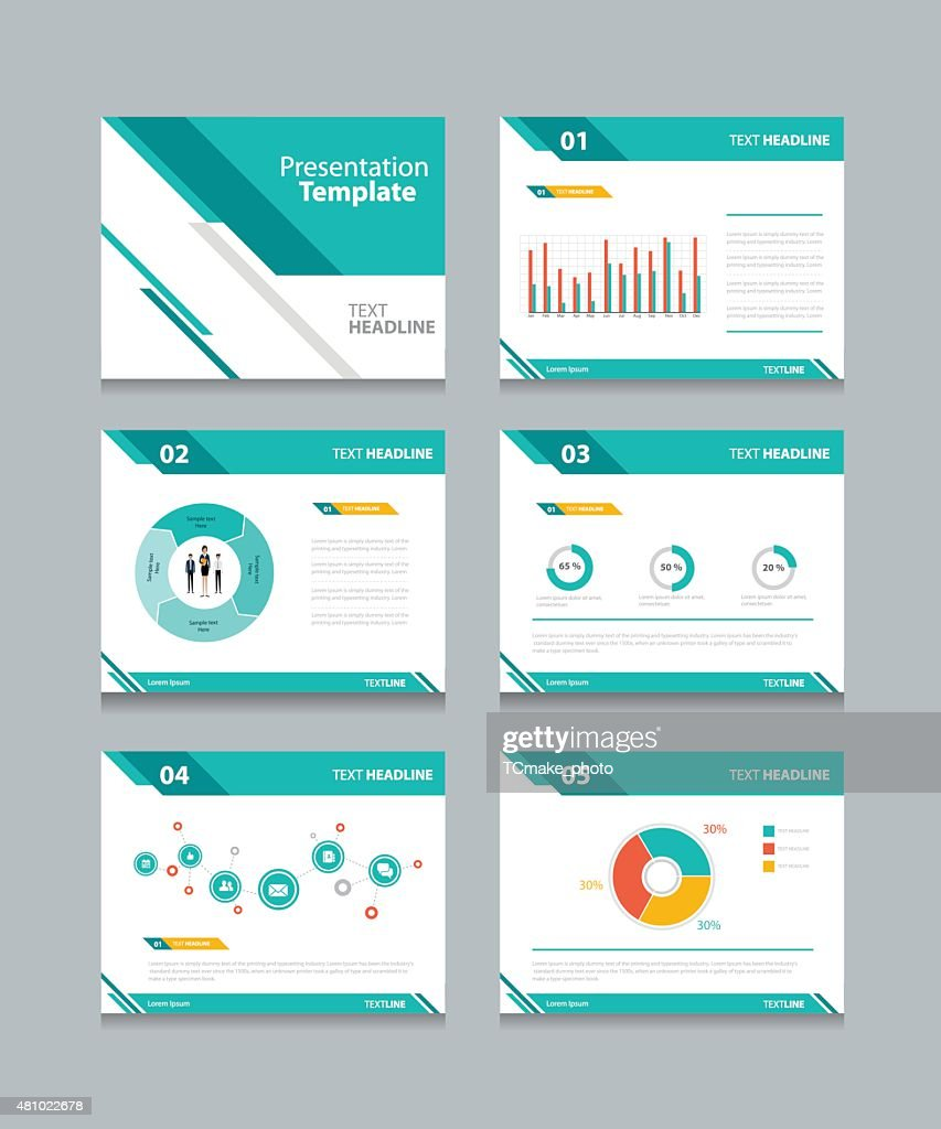Business Presentation Template Set.powerpoint Template Design Backgrounds :  Vector Art