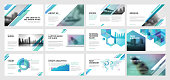 Set of vector infographic elements for presentation slides, annual report, business marketing, brochure, flyers, web design and banner, company presentation.