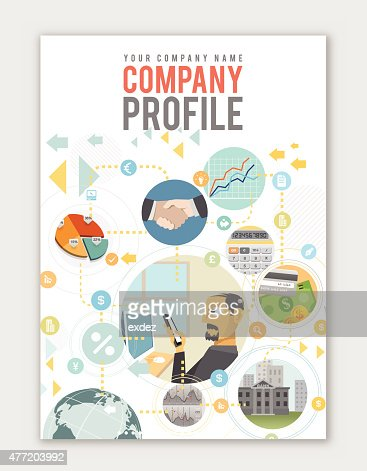 Business Profile Template Vector Art  Getty Images