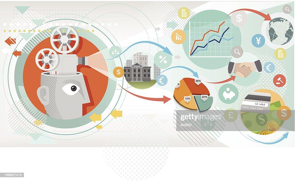 Business profit projection : Vector Art