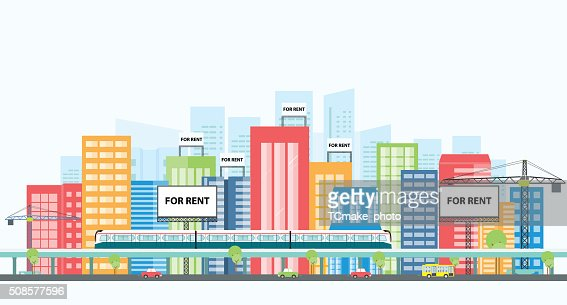 business real estate investment.property investment : Vectorkunst