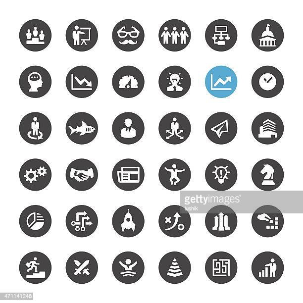 Business related vector icons