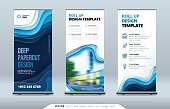 Business Roll Up Banner stand. Presentation concept. Abstract modern roll up background. Vertical template billboard, banner stand or flag design layout. Poster for conference, forum, shop