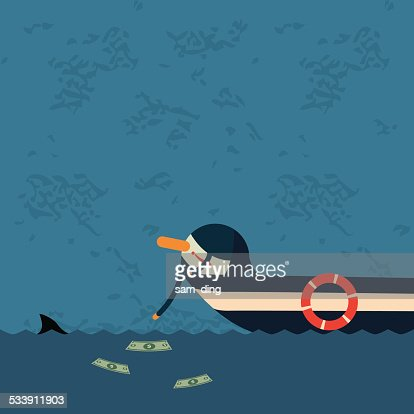 Business, sea, drifting, money,temptation
