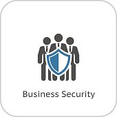 Business Security Icon. Flat Design. Business Concept. Isolated Illustration.