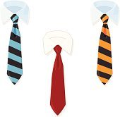 A vector illustration of a Vector Business shirt and tie.