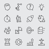 Business solution line icon
